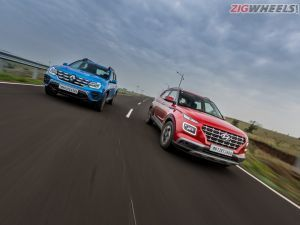 Hyundai Venue vs Renault Duster Petrol Automatic Comparison Review