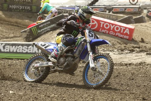 MONSTER ENERGY/YAMAHA FACTORY RACING'S JUSTIN BARCIA EARNS A TOP-TEN FINISH IN FOXBOROUGH