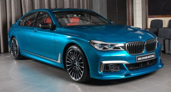 BMW M760Li Individual Looks Extra Special In Long Beach Blue Coat