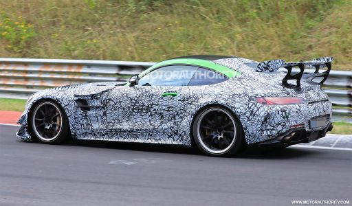Mercedes-AMG GT R Black Series Seen Testing With Large Wing