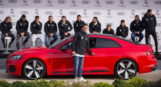 Audi Delivers A Selection Of Vehicles To Real Madrid Players