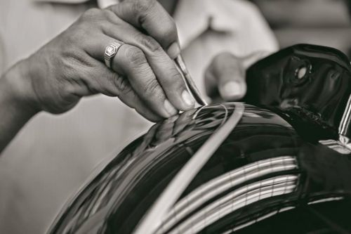 An artist's canvas: Hand-painting a Royal Enfield