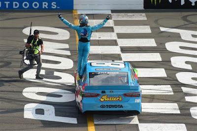 Kyle Busch wins at Pocono for third time