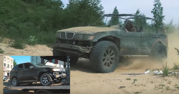 Watch As This Crash-Damaged X5 Is Turned Into An Open-Top Badass