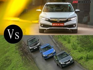 All-New Honda Civic vs Skoda Octavia Vs Hyundai Elantra Vs Toyota Corolla Altis Specification Comparison
