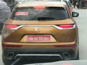 DS 7 Crossback Spied During High Altitude Testing In India