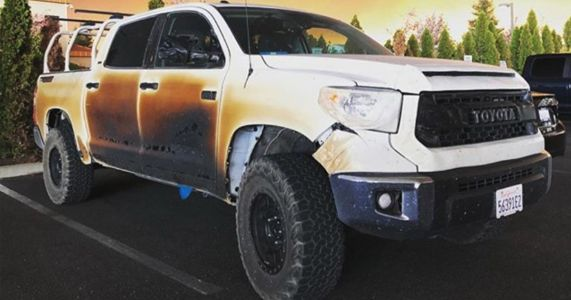 Good Guy Toyota Is Replacing A Wildfire Hero's Fire-Damaged Truck
