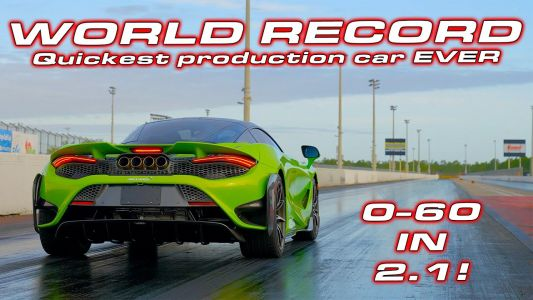 McLaren 765LT Fastest Production Car Ever Over 1/4 Mile