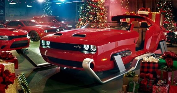 Dodge Made A Challenger Hellcat Sleigh And It Works