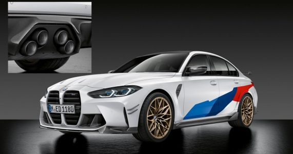 BMW's M3/M4 M Performance Parts Include A Weird Exhaust And A Big Rear Wing