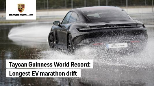 Porsche Taycan Grabs World Record For Longest EV Drift