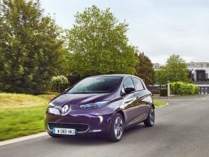 Pre-facelift Renault Zoe Electric Vehicle Spied In India