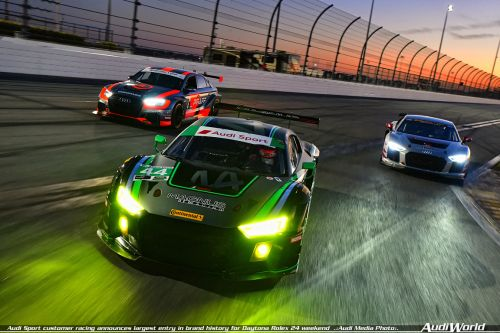 Audi Sport customer racing announces largest entry in brand history for Daytona Rolex 24 weekend