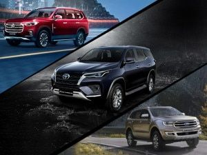 2021 Toyota Fortuner vs Ford Endeavour vs MG Gloster vs Mahindra Alturas G4 Dimensions Features Engines Compared
