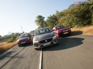 Sub-4 Metre Sedans Compared Ford Aspire vs Honda Amaze vs Maruti Suzuki Dzire