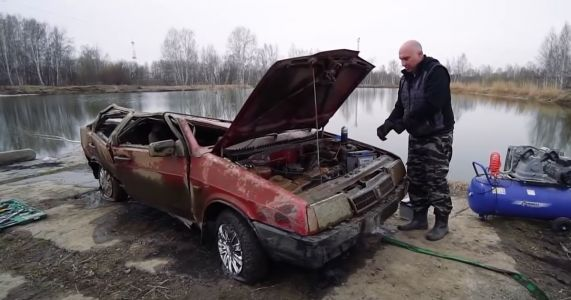 Can You Start A Lada That's Spent Six Months At The Bottom Of A Lake?
