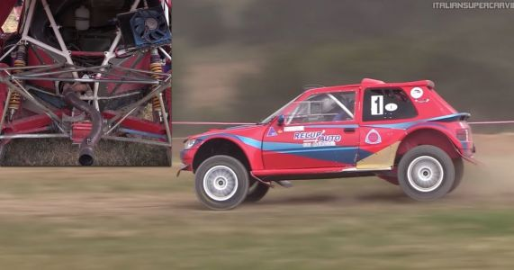 Noisy Three-Rotor Peugeot 205 Rally Car Is Predictably Brilliant