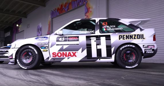 Ken Block's Escort Cosworth Is Now Liveried Up And It Looks Amazing