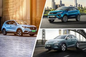Tata Nexon EV vs MG ZS EV vs Hyundai Kona Electric Specification Comparison