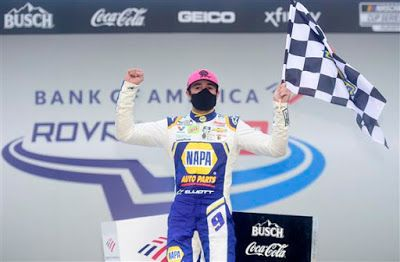 Elliott advances with Playoff win at the Charlotte ROVAL