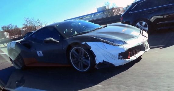 'Hybrid V6 Ferrari Supercar' Test Mule Spotted In Traffic