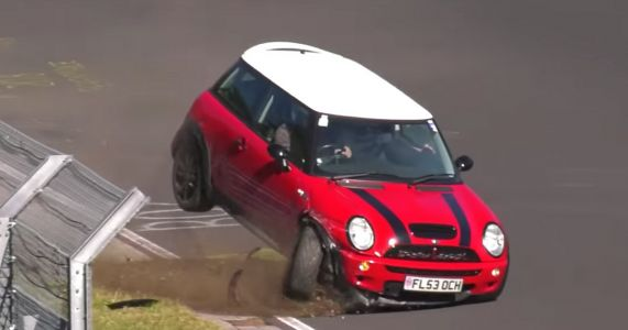 Watch A Mini Cooper S Eat Dirt And Amrco On The Nurburgring
