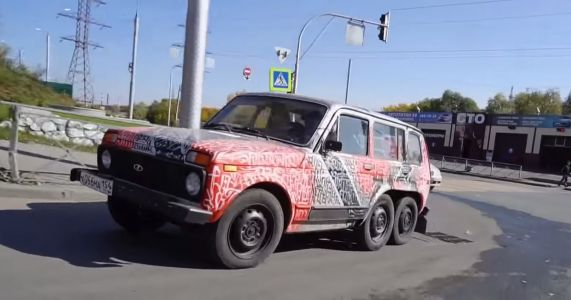 Move Aside, AMG: Here's A Homemade 6x6 Lada Niva
