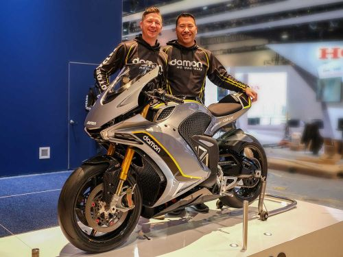 Damon Motorcycles Hypersport Electric Preview CES 2020