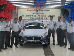 Maruti Suzuki Exports 1 Millionth Car From Gujarat
