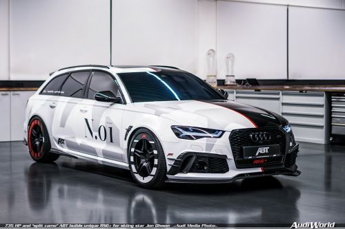 "735 HP and ""split camo"" - ABT builds unique RS6+ for skiing star Jon Olsson"
