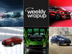 Top Car News Of The Week Kia Sonet Sketches Maruti S-Cross Petrol Lamborghini SCV12 Unveiled And Jeep Compass Night Eagle Launched