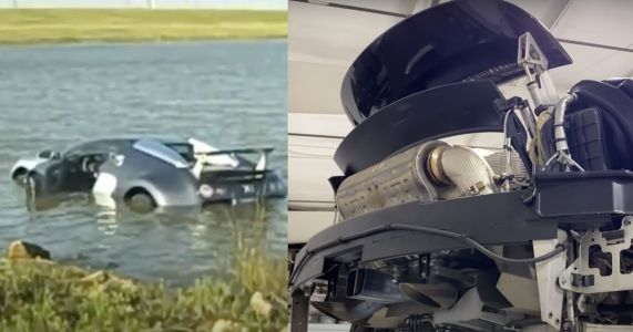 12 Years On, The Veyron That Was Driven Into A Lake Is Finally Being Repaired