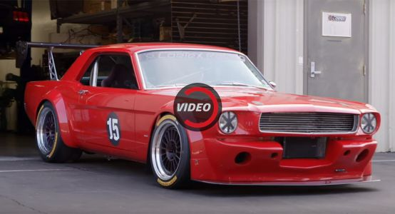 Custom '66 Ford Mustang Shows New Shelby GT350R How It's Done