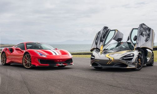 Ferrari 488 Pista Pips Mighty McLaren 720S at Anglesey Circuit