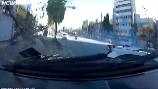 Street Race Ends Badly For Mustang While Racing Mercedes-AMG A45 In South Korea