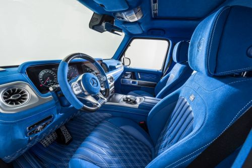 Bright Blue BRABUS Interior For Your Mercedes-AMG G63