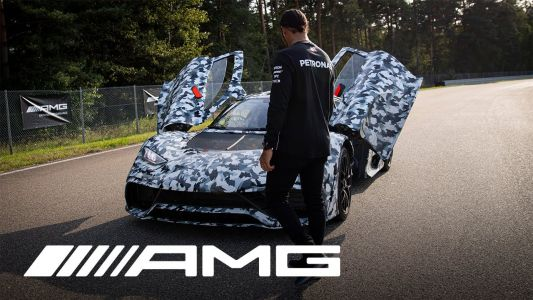 Lewis Hamilton Checks Out Progress on Mercedes-AMG One and It Looks Fast
