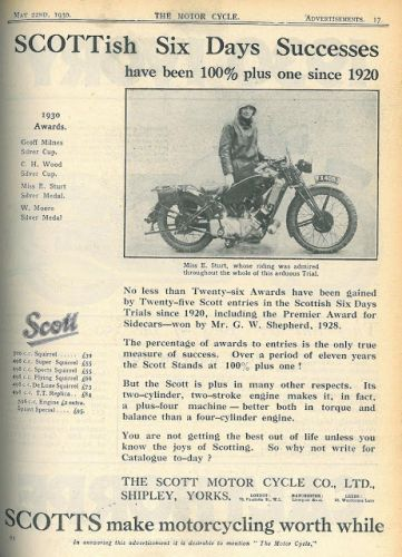 On Going Historical Research: 1930s Off road riding