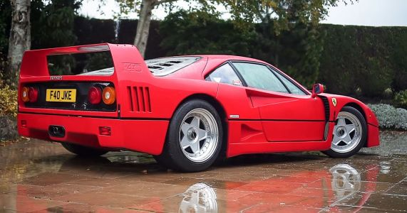 A Ferrari F40 On Wet, English Roads Is Pure Supercar Love