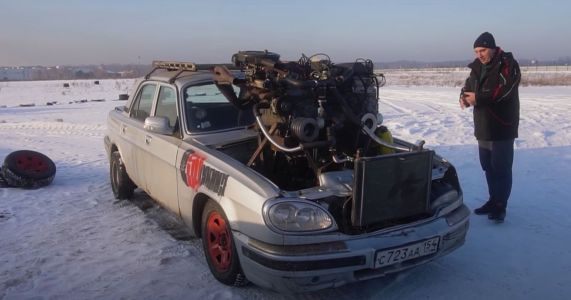 This DIY 'V12' Is Made From Three Lada Engines