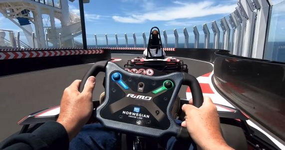 Now You Can Race Go-Karts Over Two Levels Of A Cruise Ship
