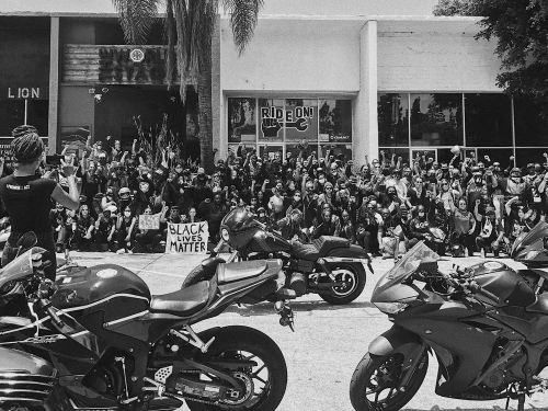Protesting For Equality On Motorcycles