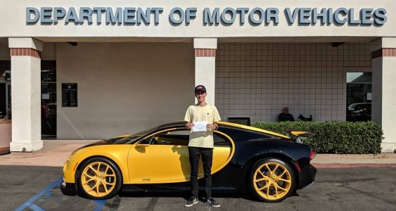 17-Year-Old Takes Driving Test In $4 Million Bugatti Chiron