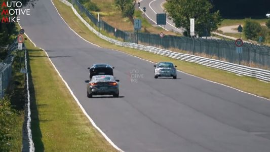 BMW M8 Spotted Giving It Horns Around the Nürburgring
