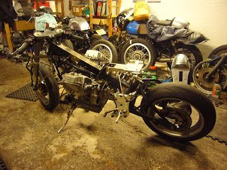 Guzzi 1100 Sport partial strip down