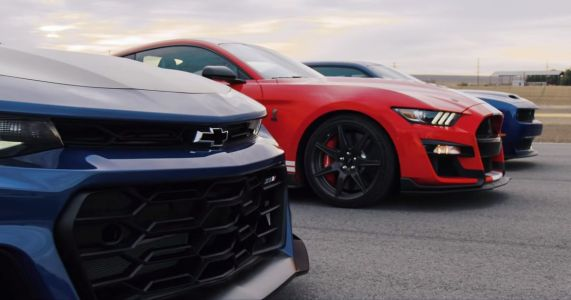 Mustang Vs Challenger Vs Camaro: Muscle's Holy Trinity Drag Race