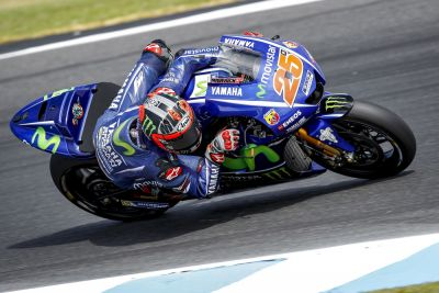 Vinales fastest on second day testing