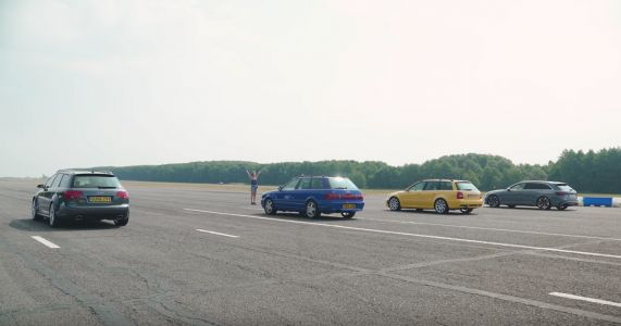 Watch Three Generations Of Audi RS4 Plus An RS2 Do Battle