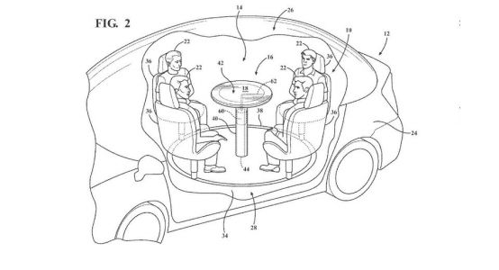 Ford's Retractable Table Interior Could Show The Way For Autonomous Cars
