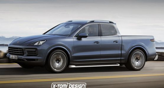 It Had To Be Done: New Porsche Cayenne Imagined As A Pickup Truck